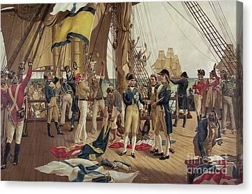 Nelson's Last Signal At Trafalgar  Canvas Print