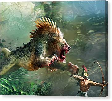 Nemean Lion Canvas Print by Ryan Barger