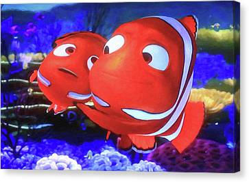 Nemo And Dad Canvas Print by Donna Kennedy