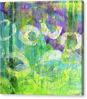 Nenuphars   Canvas Print by Shelley Graham Turner
