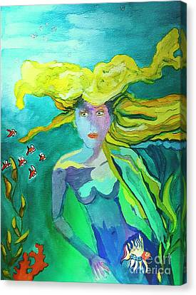 Neo Mermaid 1 Canvas Print by ARTography by Pamela Smale Williams