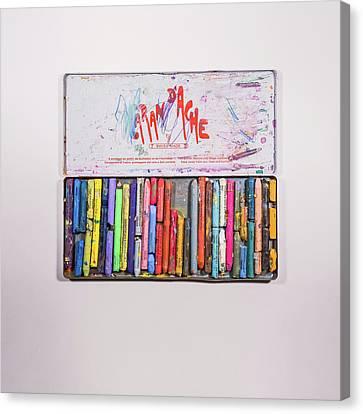 Pencil Sketch Canvas Print - Neocolor II by Scott Norris