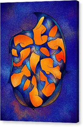 Neoh Peblous V2 - Digital Abstract Canvas Print by Cersatti