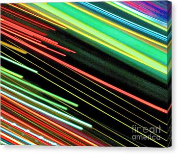 Neon 101 Abstract Canvas Print by Ken Lerner