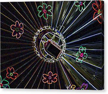 Neon Balloon Canvas Print by Ernie Echols