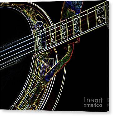 Neon Banjo  Canvas Print by Wilma Birdwell