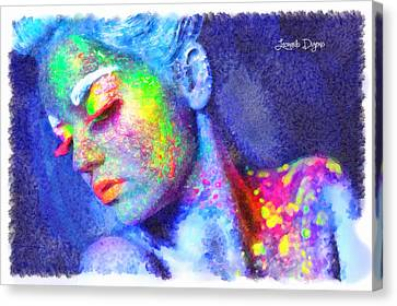 Neon Beauty Canvas Print