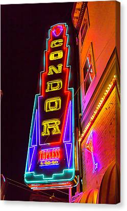 Condor Canvas Print - Neon Condor San Francisco by Garry Gay