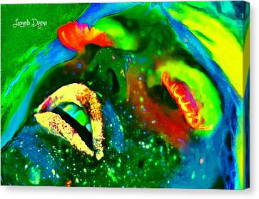 Neon Face - Da Canvas Print by Leonardo Digenio