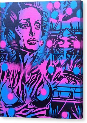 Neon Jungle Canvas Print by Leon Keay