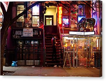 East Village Canvas Print - Neon Lights - New York City At Night by Vivienne Gucwa