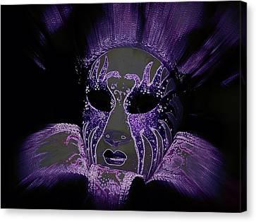 Neon Mardi Gras Canvas Print