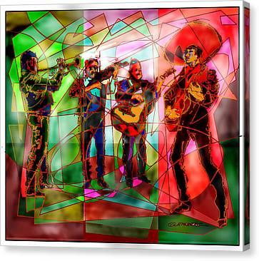 Folkloric Canvas Print - Neon Mariachi by Dean Gleisberg