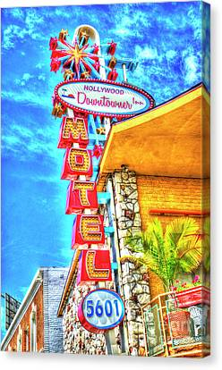 Neon Motel Sign Canvas Print by Jim and Emily Bush