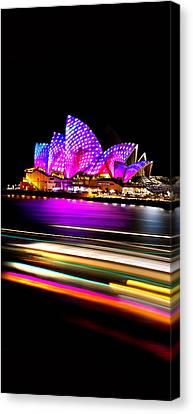 Neon Nights Panorama Canvas Print by Az Jackson