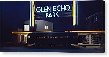 Neon Park Canvas Print