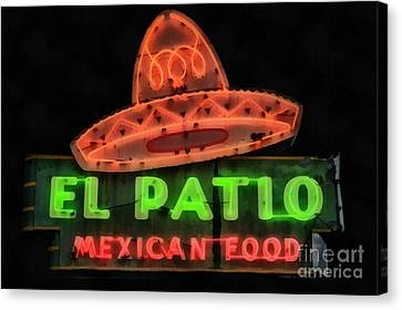 Neon Sign Series Mexican Food Austin Texas Canvas Print by Edward Fielding