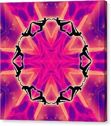 Canvas Print featuring the digital art Neon Slipstream by Derek Gedney
