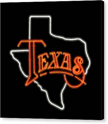 Canvas Print featuring the digital art Neon Texas by Daniel Hagerman