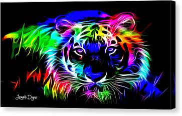 Neon Tiger - Da Canvas Print