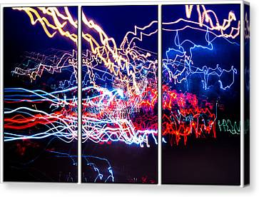 Neon Ufa Triptych Number 1 Canvas Print by John Williams