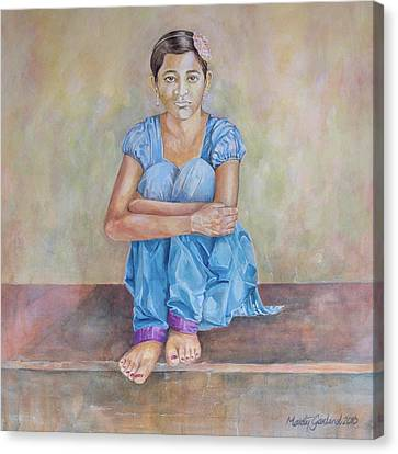Nepal Girl 4 Canvas Print by Marty Garland
