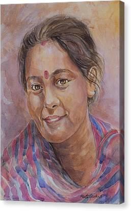 Nepal Girl 6 Canvas Print