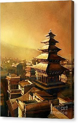 Nepal Temple Canvas Print by Ryan Fox