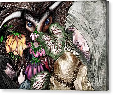 Nephilim Dragon And Fairy Eve Canvas Print by Janice Moore