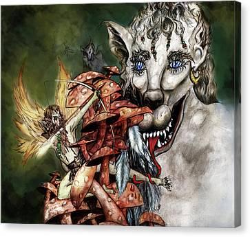 Nephilim Mushroom Forest Battle Fantasy Canvas Print