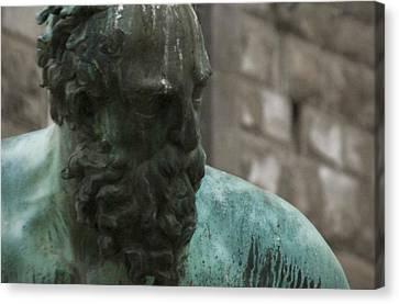 Neptune Statue 3 Canvas Print
