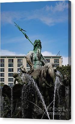 Neptune Statue Canvas Print by Nichola Denny