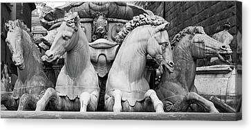 Canvas Print featuring the photograph Neptune's Horses by Richard Goodrich