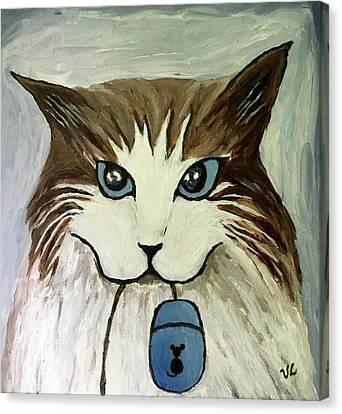 Nerd Cat Canvas Print