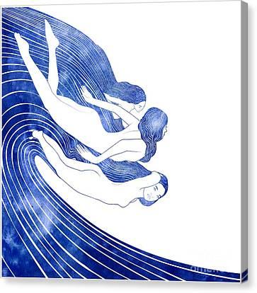Nereids Canvas Print by Stevyn Llewellyn