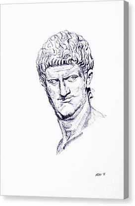 Nero Roman Emperor Series Ancient Rome Canvas Print