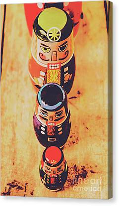 Moustache Canvas Print - Nesting Dolls by Jorgo Photography - Wall Art Gallery