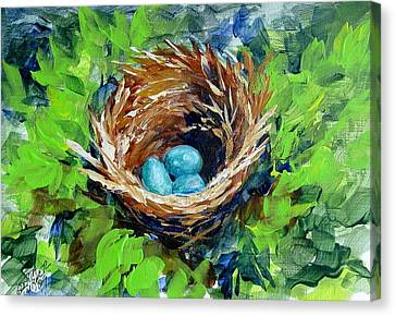 Nesting Eggs Canvas Print