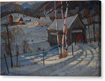Nestled In The Berkshires Canvas Print by Len Stomski