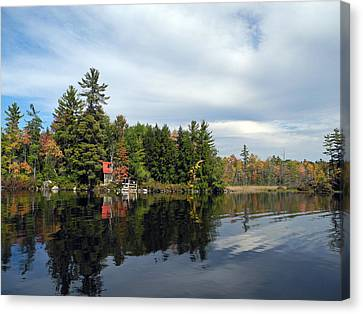 Nestled On The Far Shore Canvas Print by Lynda Lehmann