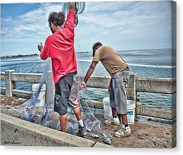 Net Fishing On Cortez Bridge  Canvas Print
