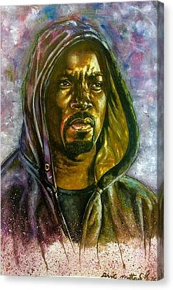 Canvas Print featuring the painting  Netflix Luke Cage by Darryl Matthews