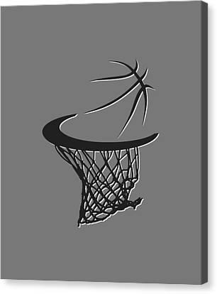 Nets Basketball Hoop Canvas Print by Joe Hamilton