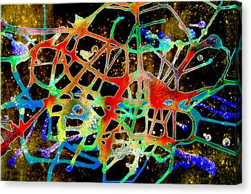 Canvas Print featuring the painting Neuron2 by Mordecai Colodner