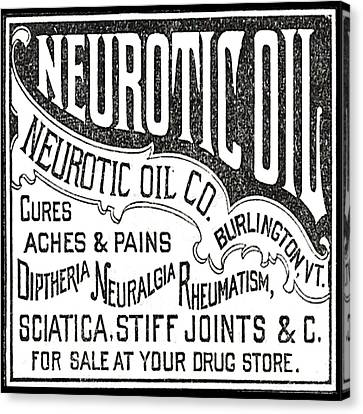 Neurotic Vintage Ad Canvas Print
