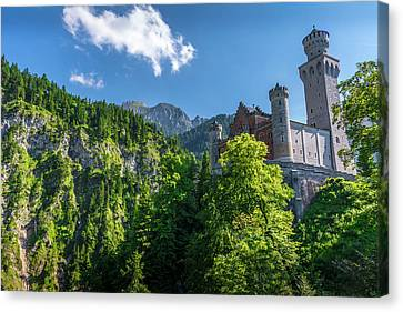 Canvas Print featuring the photograph Neuschwanstein Castle by David Morefield