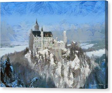 Neuschwanstein Castle Canvas Print by Sergey Lukashin