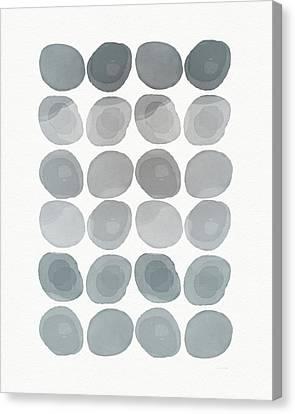 Neutral Stones- Art By Linda Woods Canvas Print by Linda Woods