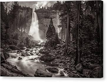 Nevada Fall Monochrome Canvas Print by Scott McGuire