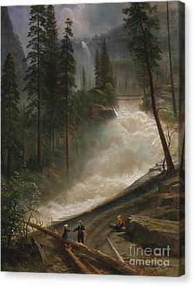 Canvas Print featuring the photograph Nevada Falls Yosemite                                by John Stephens